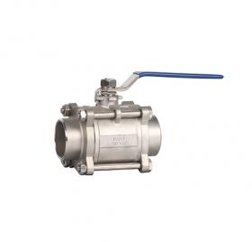 宁波焊接三片式球阀ZMQ61F